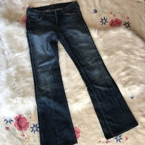 Dark wash 7 for all mankind flare leg jeans